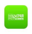 Repair data icon green