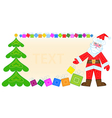 Santa Claus gifts and gifts background vector image