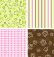 scrapbook patterns vector image vector image