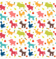 seamless pattern with farm animals vegetables vector image vector image