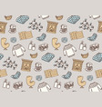 seamless pattern with hygge concept and cozy home vector image vector image