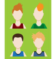 Set of Male avatar or pictogram for social vector image