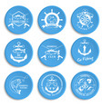 set of vintage fishing labels badges vector image