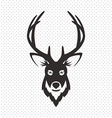Simple Black Animal Portrait Deer vector image vector image