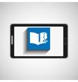 smartphone technology download book digital vector image
