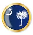 south carolina flag button vector image vector image