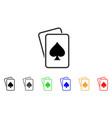spade gambling cards icon vector image vector image
