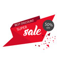 super sale best discount 50 off red sale banner v vector image vector image