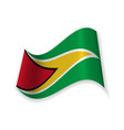 the flag of the cooperative republic of guyana vector image vector image