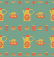 time for tea retro seamless pattern vector image
