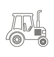 tractor farm vehicle isolated icon vector image vector image