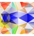 Triangle background Colorfull polygons vector image vector image