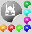 Turkish architecture mosque icon sign Set of eight vector image