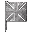 united kingdom union jack vintage vector image vector image