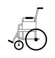wheelchair handicap symbol black and white vector image