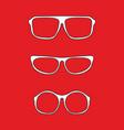 white nerd glasses vector image vector image