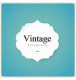 white vintage frame on blue background vector image vector image