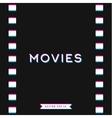 Motion picture film in 3D vector image