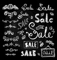 sale hand drawn lettering vector image