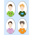 Cartoon of a handsome young man with various hair vector image