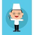 Chef kids vector image