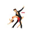 professional dancer couple dancing rumba pair of vector image