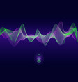 abstract pulse sound wave voice assistant vector image