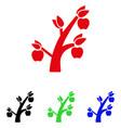 apple tree icon vector image vector image