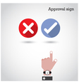 Approval concept vector image vector image
