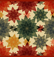 autumn abstract yellow red and green flowers vector image