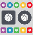 Basketball icon sign A set of 12 colored buttons vector image