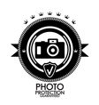 Black retro vintage label  tag  badge  photo vector | Price: 1 Credit (USD $1)