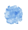 Blue watercolor christmas background vector image vector image