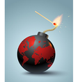 bomb and match new vector image vector image