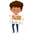 boy with math question vector image vector image