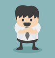 Businessman with folded arms vector image vector image