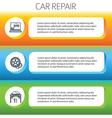 car repair service horizontal banner set vector image