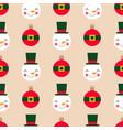 christmas balls and snowmen seamless vector image vector image