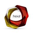 clean professional hexagon shape business emblem vector image