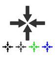 collide arrows flat icon vector image vector image