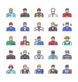 color linear icon set workers men vector image vector image