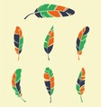 Colorfull Feather Collection vector image