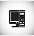 computer pc on white background vector image vector image