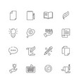 copywriting icon writing creative articles book vector image