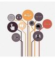 Creative concept growth Tree idea vector image vector image