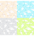 different patterns with origami paper cranes vector image