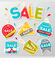 discount sale advertising sticker set vector image