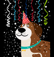 dog party background vector image vector image
