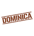 Dominica brown square stamp vector image vector image