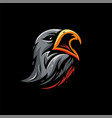 eagle head design and vector image vector image